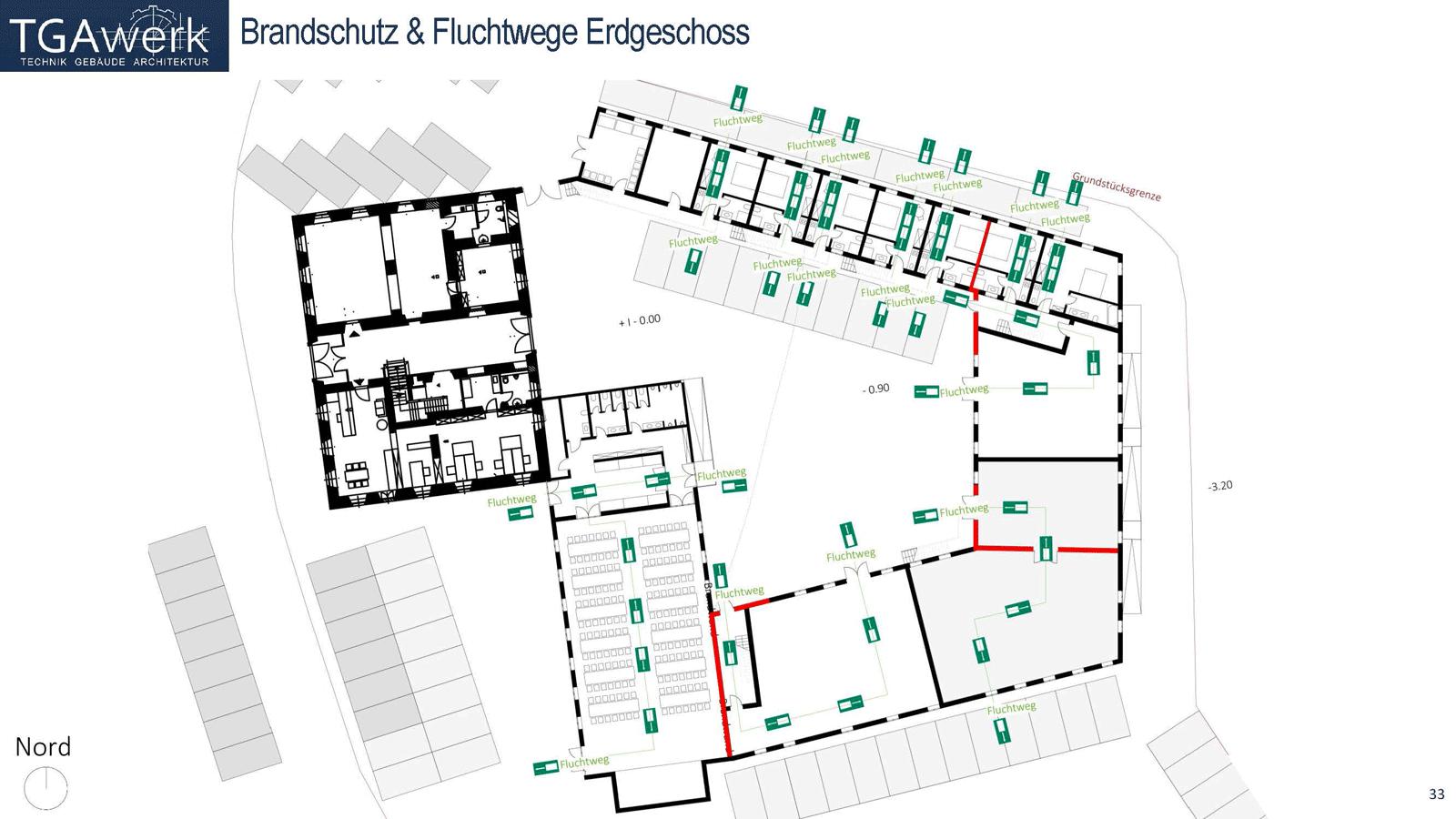 Brandschutz Und Fluchtwege Erdgeschoss