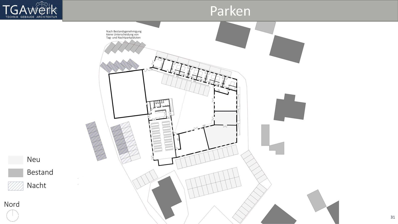 Parken Um Den Vierseithof